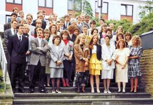 """Abiturientia 1988 auf den """"Klostertreppen"""""""